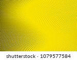 bright yellow black halftone...   Shutterstock .eps vector #1079577584