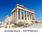 Parthenon In Acropolis  Athens...