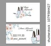 nail art  nail artist  nail... | Shutterstock .eps vector #1079584427