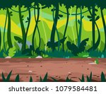 jungle path game background   Shutterstock .eps vector #1079584481