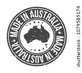 made in australia quality... | Shutterstock .eps vector #1079585174