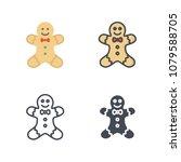 gingerbread man christmas...   Shutterstock . vector #1079588705