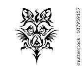 tribal wolf | Shutterstock .eps vector #107959157