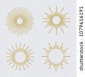 vector sunburst gold glitter... | Shutterstock .eps vector #1079616191