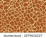 giraffe texture pattern...   Shutterstock .eps vector #1079616227