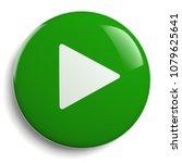 play button. round green 3d...