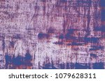 grunge retro painted texture.... | Shutterstock . vector #1079628311
