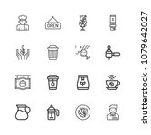 thin line icons set of... | Shutterstock .eps vector #1079642027