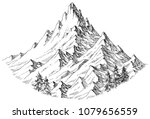 mountain peak isolated | Shutterstock .eps vector #1079656559