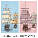 sailing wallpapers or sailboats ... | Shutterstock .eps vector #1079656754