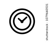 clock icon vector pictogram...