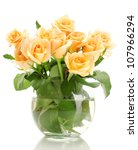 Beautiful Bouquet Of Roses In...