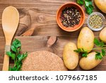 Fresh Potatoes  Greens And...