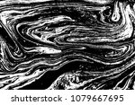 black and white liquid texture. ... | Shutterstock .eps vector #1079667695
