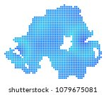 blue dotted northern ireland... | Shutterstock .eps vector #1079675081