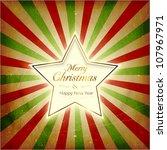 vintage christmas background... | Shutterstock .eps vector #107967971