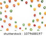 top view of colorful chilli... | Shutterstock . vector #1079688197