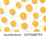top view of orange slice with... | Shutterstock . vector #1079688794