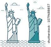 statue of liberty. world...   Shutterstock .eps vector #1079688857