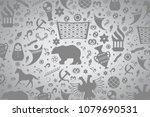 russian pattern wallpaper... | Shutterstock .eps vector #1079690531