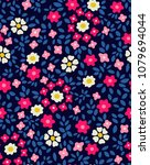 cute floral pattern in the...   Shutterstock .eps vector #1079694044