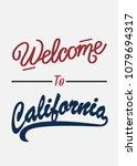 typography slogan welcome to... | Shutterstock .eps vector #1079694317