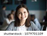 headshot portrait of smiling...   Shutterstock . vector #1079701109
