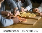 hands of diverse people taking... | Shutterstock . vector #1079701217