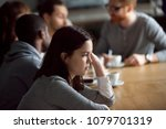 frustrated upset millennial... | Shutterstock . vector #1079701319