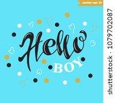 hand drawn lettering sign.... | Shutterstock .eps vector #1079702087