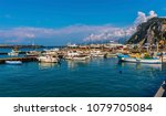 a view across the quayside of...   Shutterstock . vector #1079705084