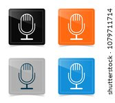 web design of microphone icon.... | Shutterstock .eps vector #1079711714