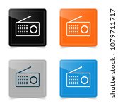 web design of radio icon.... | Shutterstock .eps vector #1079711717