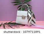 Stylish White Leather Female...