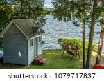 small shed lakeside with a... | Shutterstock . vector #1079717837