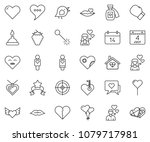 thin line icon set   berry... | Shutterstock .eps vector #1079717981