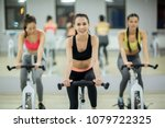 young successful fitness... | Shutterstock . vector #1079722325