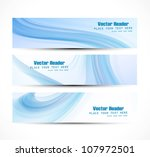 abstract header blue vector... | Shutterstock .eps vector #107972501