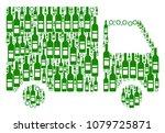 shipment van composition of... | Shutterstock . vector #1079725871