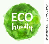 eco friendly on green... | Shutterstock . vector #1079725934