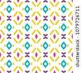 fabric print. geometric pattern ...   Shutterstock . vector #1079726711
