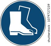 safety shoes icon    blue  sign ... | Shutterstock .eps vector #1079727239