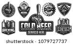 set of badges with beer... | Shutterstock . vector #1079727737
