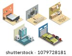 isometric low poly interior... | Shutterstock .eps vector #1079728181