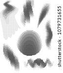 set of abstract vector halftone ...   Shutterstock .eps vector #1079731655