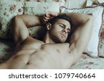 sexy and naked muscular young... | Shutterstock . vector #1079740664