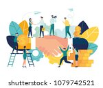 business concept vector... | Shutterstock .eps vector #1079742521