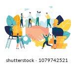 business concept vector... | Shutterstock .eps vector #1079742521