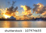 sydney harbour with opera house ...