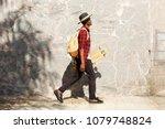 full length side portrait of... | Shutterstock . vector #1079748824